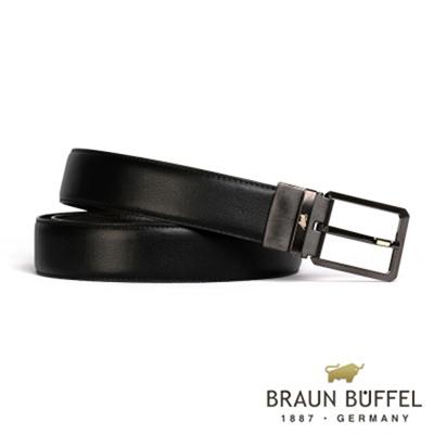 BRAUN BUFFEL - 極簡紳士品格穿針式皮帶 - 鎗色