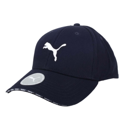 PUMA 棒球帽-鴨舌帽 遮陽 防曬 帽子 純棉 02282402 丈青白