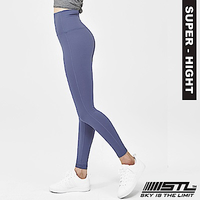 STL Leggings Pure 9 韓 女 超高腰運動拉提褲 純粹淺藍