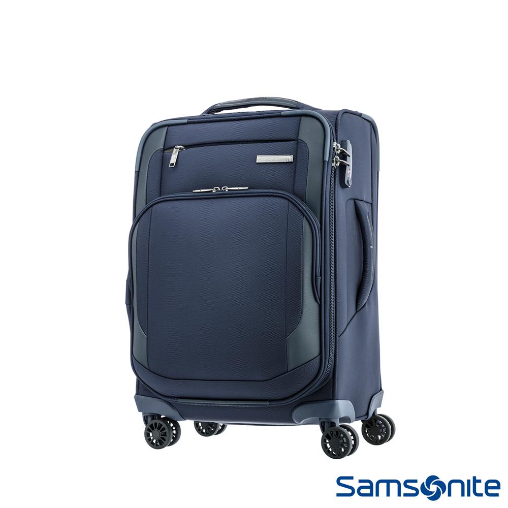 Samsonite 新秀麗 20吋Hexel 智慧型商務收納登機箱(海軍藍)