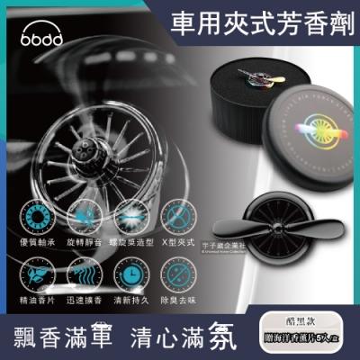 bbdd-金屬螺旋槳風扇造型汽車用香氛芳香劑(贈海洋香薰片5入)