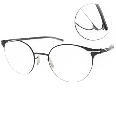 ic!berlin眼鏡 薄鋼 貓眼款/石墨 #FILIO K. GRAPHITE