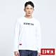 EDWIN EDGE 噴漆LOGO 長袖T恤-男-白色 product thumbnail 1
