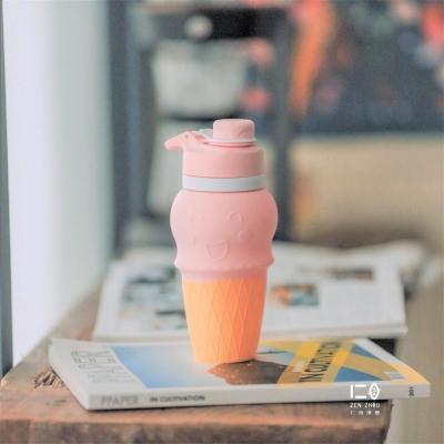 仁舟淨塑 甜筒矽水杯500ml-粉草莓