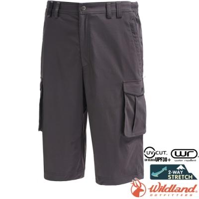 Wildland 荒野 0A71360-101煙灰色 男彈性抗UV貼袋七分褲