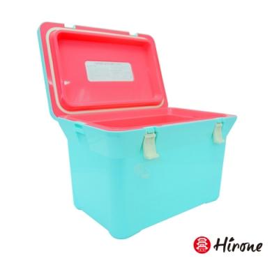 [時時樂限定]日本Hirone日本製繽紛假日便攜式大容量戶外冰桶-粉末藍