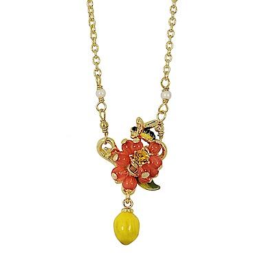 Les Nereides 花卉系列 小蜜蜂檸檬鑲鑽寶石項鍊