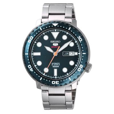 SEIKO 扭轉時尚機械錶-藍-SRPC63K1