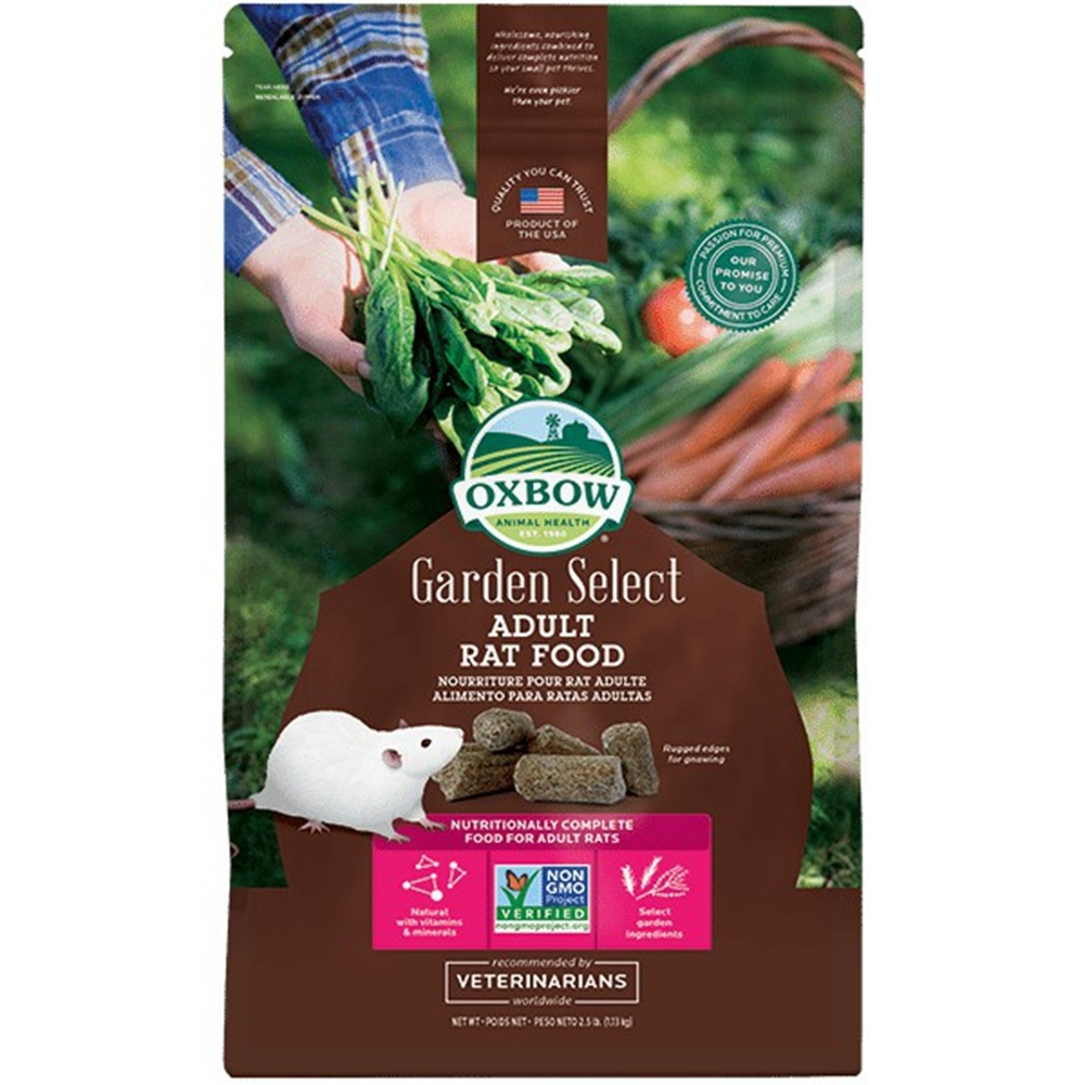 OXBOW-Garden Select Adult Rat FOOD田園精選非基改成鼠飼料 2.5lb(1.13KG) 兩包組