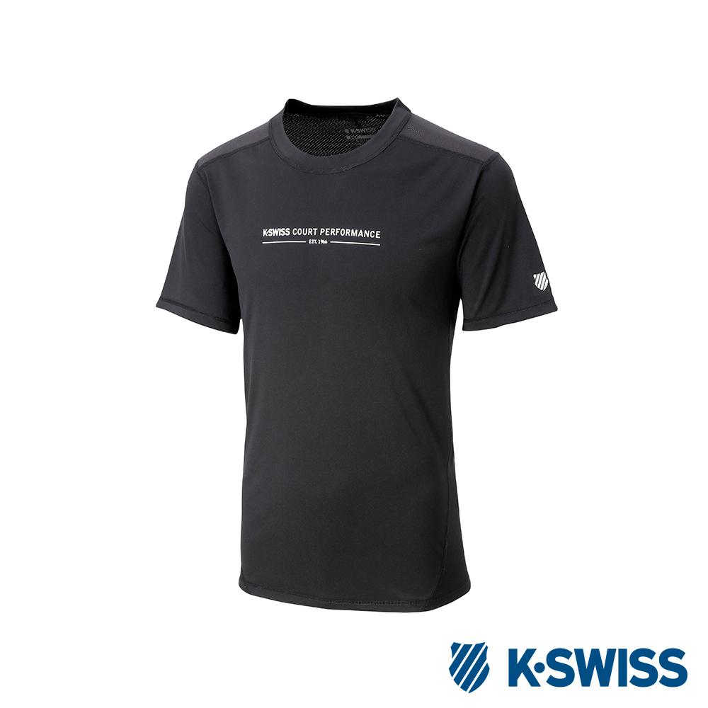 K-SWISS PF Solid Tee排汗T恤-男-黑