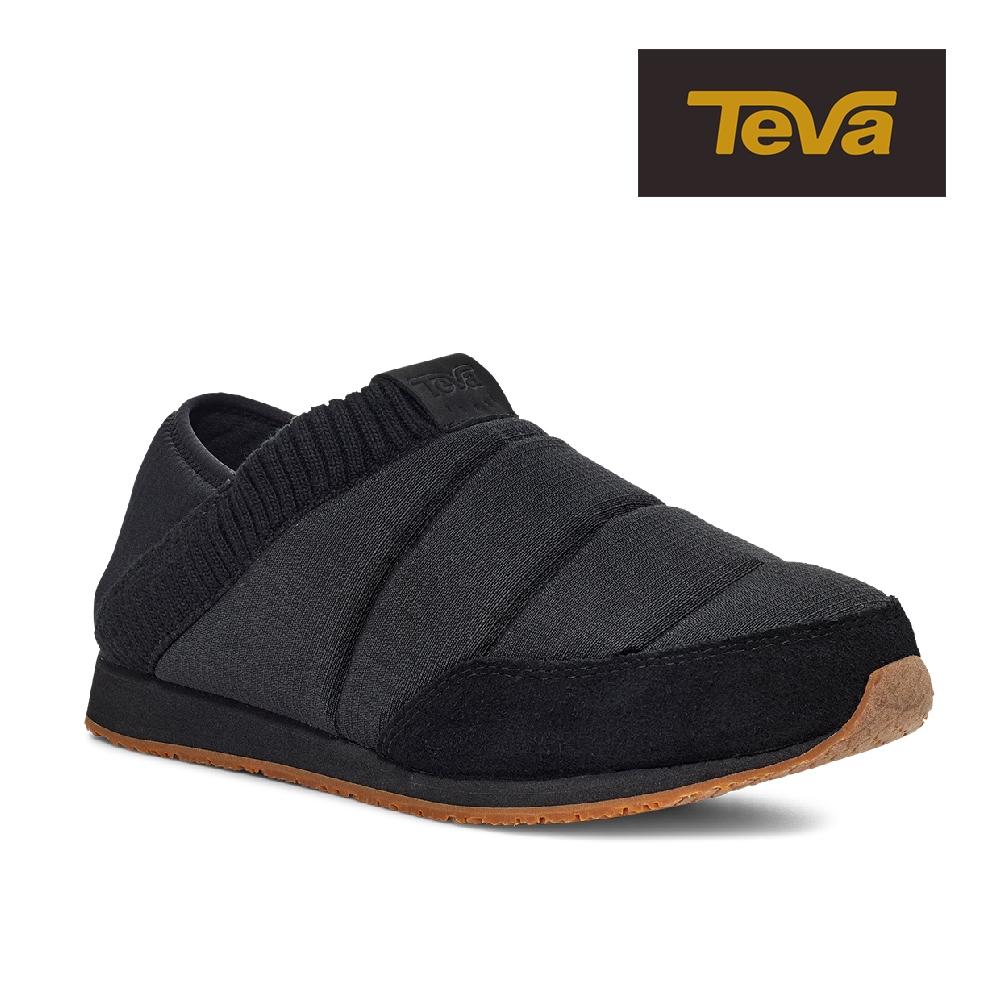 【TEVA】原廠貨 男/女/中性 ReEmber 2 兩穿式防潑水法國麵包鞋/休閒鞋/懶人鞋(黑色-TV1123091BLK)