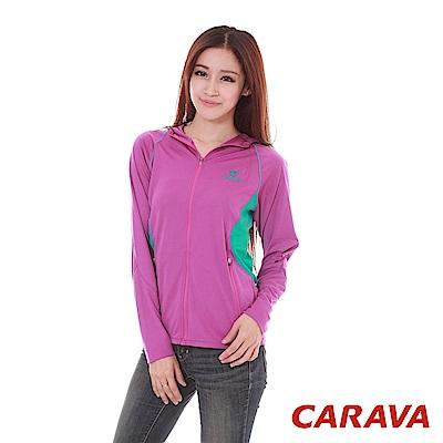 CARAVA《女款防曬排汗外套》(玫紫)