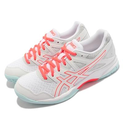 Asics 排球鞋 GEL Task 2 運動 女鞋 亞瑟士 緩衝 易伸屈鞋面 耐用 亞瑟膠 白 紅 1072A038960