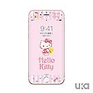 優加 iPhone 7/8 Hello Kitty鋼化玻璃彩繪保護貼-早安凱蒂貓