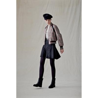CRY 格紋蓬袖外套