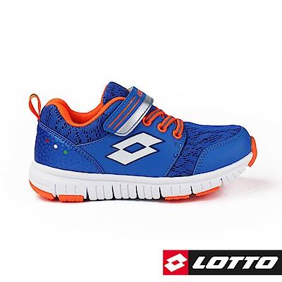 LOTTO 義大利 童 SPACERUN 太空漫步輕量跑鞋 (藍)