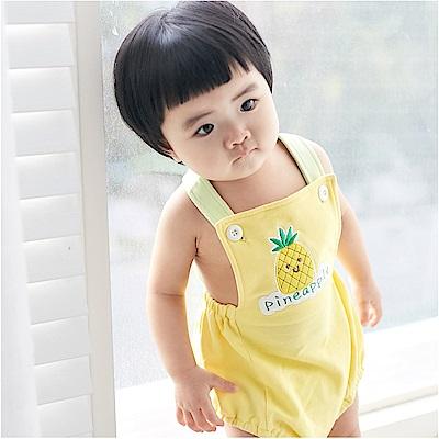 baby童衣 吊帶褲 水果刺繡寶寶吊帶包屁衣90035
