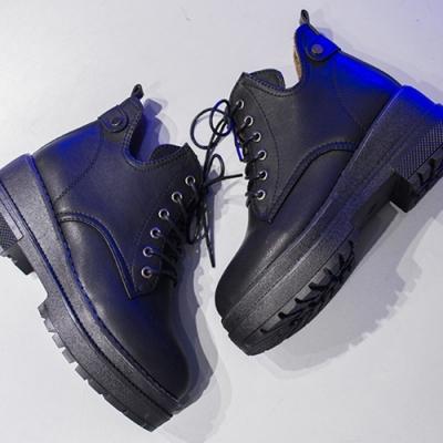 KEITH-WILL時尚鞋館-甜心高質量鬆糕平底鞋-黑色皮面