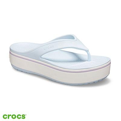 Crocs 卡駱馳 (中性鞋) 厚底卡駱班人字拖 205681-4JR