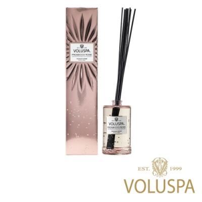 美國香氛VOLUSPA 華麗年代系列 玫瑰氣泡 浮雕玻璃罐室內擴香192ml