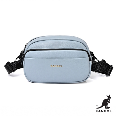 【KANGOL】英式典雅-輕巧側背包-藍
