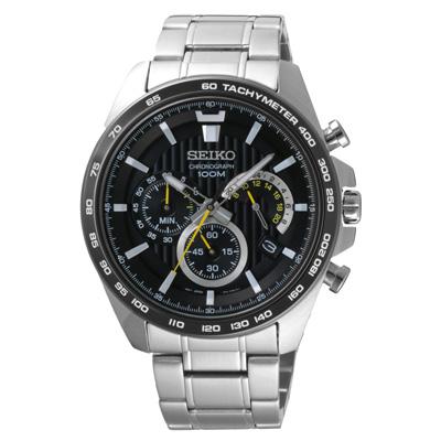 SEIKO 時空混沌太陽能時尚腕錶(SSB303P1)-43mm