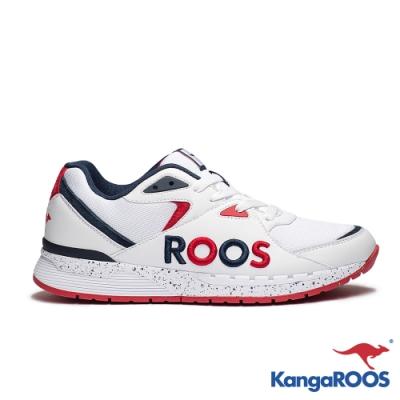 KANGAROOS 男 RUNAWAY ROOS復古跑鞋(白藍紅)