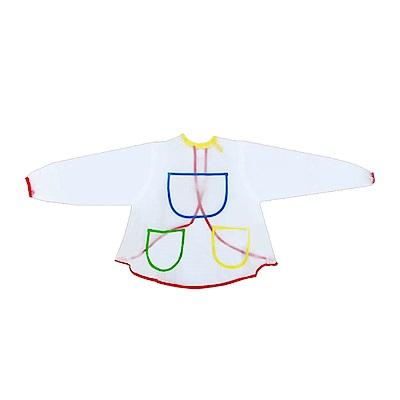 【Incare】多用途兒童繪畫塗鴉防汙圍裙(繪畫/玩沙好幫手)-2件組