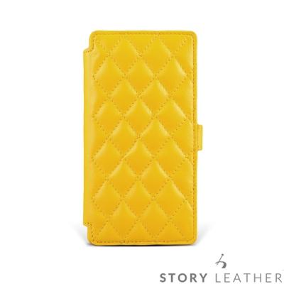 STORYLEATHER SONY Xperia Xz3 硬殼式側翻菱格客製化皮套