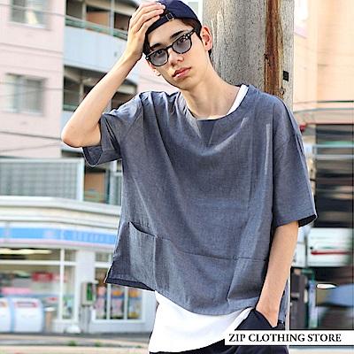 寬版素色套頭衫(5色) ZIP日本男裝
