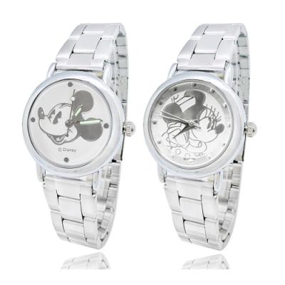 Disney米奇經典實用鋼帶手錶28mm-米奇、米妮(兩款任選)