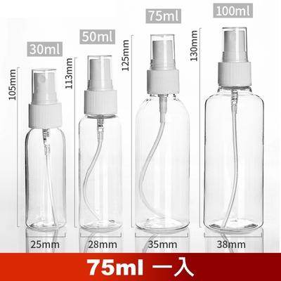 荷生活 PET材質透明小噴瓶 防疫酒精消毒水分裝瓶-75ml一瓶