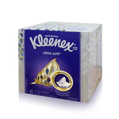 美國Kleenex頂級柔嫩盒裝面紙 65抽/️盒 (花色隨機出貨)