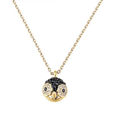 kate spade經典貓頭鷹設計鑽鑲飾項鍊(金)