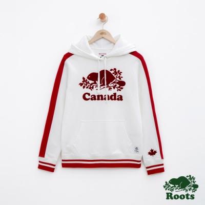 女裝Roots加拿大系列-海狸連帽上衣-白