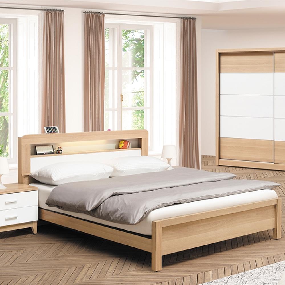AS-奧勒崗5.4尺床頭片式床台-163.6x204.2x93.9cm