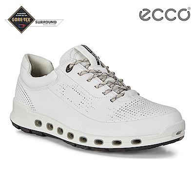 ECCO COOL 2.0 M 360度環繞防水休閒運動鞋 男-白
