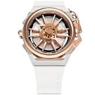 MAZZUCATO 義式美學鷗翼式翻轉機械石英雙面手錶(RIM11-WHCG5)