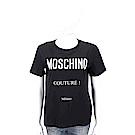 MOSCHINO 品牌LOGO印花黑色棉質T恤