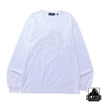 XLARGE L/S TEE EMBROIDERY OG長袖T恤-白