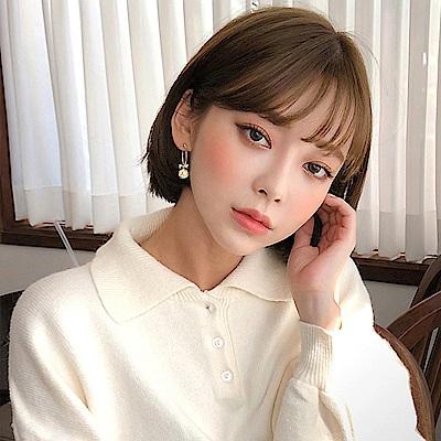 梨花HaNA 韓國華麗系列網紋珍珠蝴蝶結唯美耳環