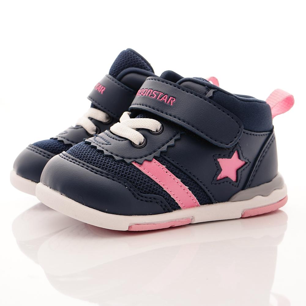 零碼18cm-日本Carrot機能童鞋 HI系列鞋款 B955深藍