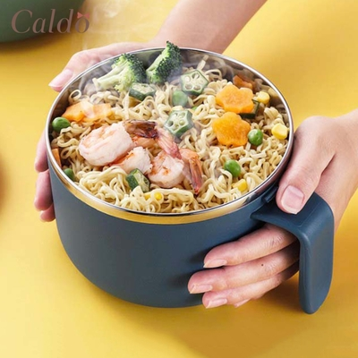 【Caldo卡朵生活】美型簡約304不鏽鋼泡麵碗 800ML