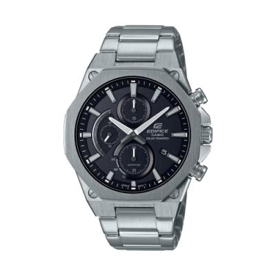 CASIO卡西歐 EDIFICE 太陽能電力 輕薄 八角錶圈 EFS-S570D-1A_44mm