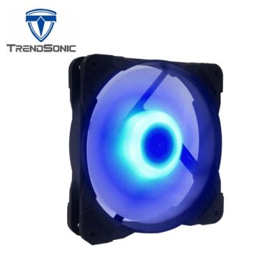TrendSonic翰欣 12cm 軸心發光型防震風扇 ( 藍光 )