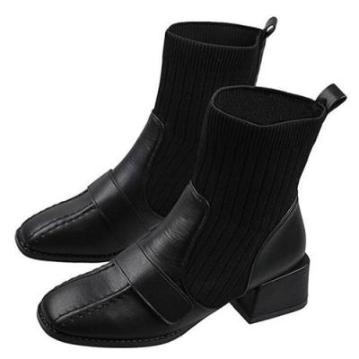 韓國KW美鞋館-限量爆殺-韓國首推襪靴中短筒靴系列(共5款可選)