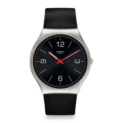 Swatch 超薄金屬系列 SKINBLACK 超薄金屬-經典黑-42mm