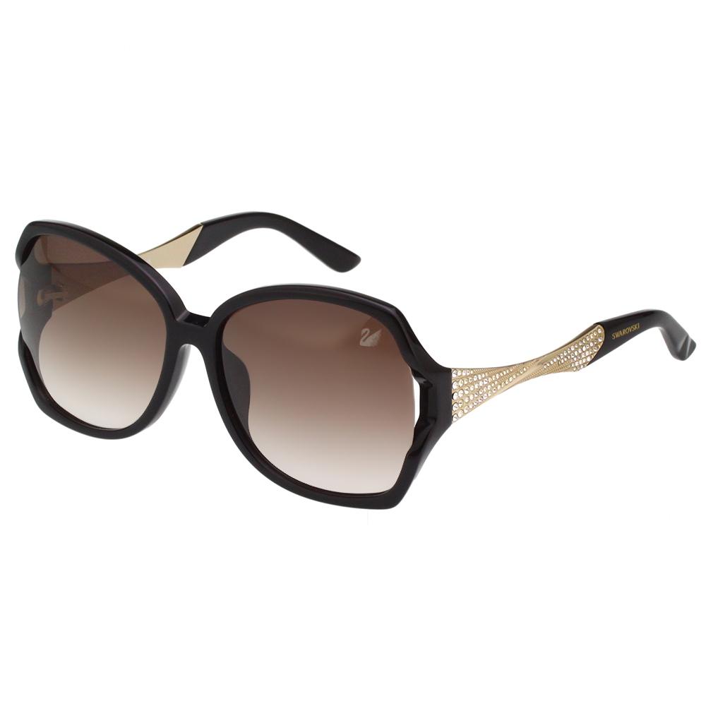 SWAROVSKI 水鑽 太陽眼鏡(黑色)SW9065