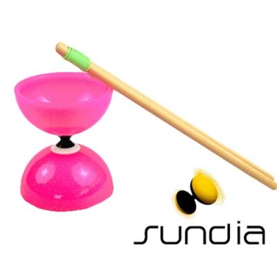 三鈴SUNDIA-台灣製造FLY長軸培鈴扯鈴(附木棍、扯鈴專用繩)粉色