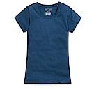 101原創 經典水洗原色圓領素T恤-女-曠藍